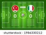 football match turkey   italy....   Shutterstock .eps vector #1986330212