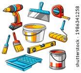 repair working tools set.... | Shutterstock .eps vector #1986341258