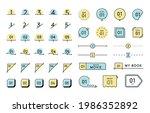 a set of simple  flat frames... | Shutterstock .eps vector #1986352892