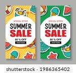 summer sale banner cover...   Shutterstock .eps vector #1986365402