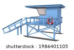 Lifeguard Tower Isolated On...
