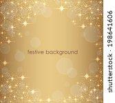 beautiful beige background with ... | Shutterstock .eps vector #198641606