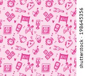 seamless doodle baby pattern... | Shutterstock .eps vector #198645356