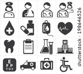 icon medical | Shutterstock .eps vector #198646526