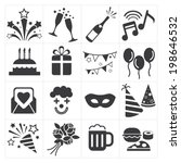 icon party celebrate | Shutterstock .eps vector #198646532