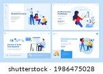set of website template designs....   Shutterstock .eps vector #1986475028