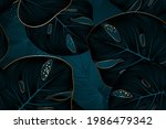 vintafe luxury golden seamless...   Shutterstock .eps vector #1986479342