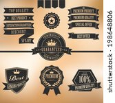 vector and ribbon set of... | Shutterstock .eps vector #198648806