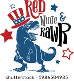 red white and rawr usa... | Shutterstock .eps vector #1986504935