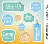 summer holiday vacation... | Shutterstock .eps vector #198650762