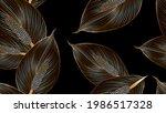 vintafe luxury golden seamless...   Shutterstock .eps vector #1986517328