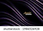 luxury purple fabric shining...   Shutterstock .eps vector #1986526928