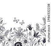 floral pattern. vintage card.... | Shutterstock .eps vector #1986532238