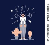 stress  pressure  panic vector... | Shutterstock .eps vector #1986548858