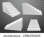 staircase vector 3d isolated... | Shutterstock .eps vector #1986554645