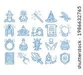 wizard magic equipment sketch...   Shutterstock .eps vector #1986632765
