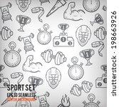 vector sports seamless... | Shutterstock .eps vector #198663926