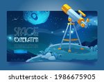 space exploration banner with...   Shutterstock .eps vector #1986675905