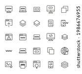 stroke line icons set of web...