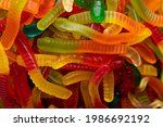 Multicolored Jelly Worm Candies ...