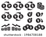 icon set of coins with the yen... | Shutterstock .eps vector #1986708188