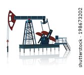 rocking for oil on a metal... | Shutterstock .eps vector #198673202