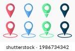 pointer icon. pointer location. ...   Shutterstock .eps vector #1986734342