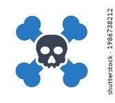 danger death icon.horror... | Shutterstock .eps vector #1986738212