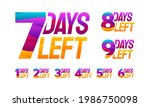 set of colorful countdown left...