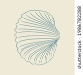 hand drawn of clams. sketch of...   Shutterstock .eps vector #1986782288