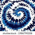 tie dye blue spiral circle... | Shutterstock .eps vector #1986790208