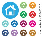 vector home buttons. basic web... | Shutterstock .eps vector #198679316