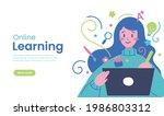 online class  e learning ...   Shutterstock .eps vector #1986803312