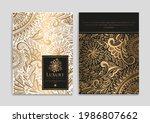 luxury invitation card design...   Shutterstock .eps vector #1986807662