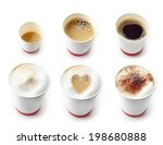 various kinds of coffees in a... | Shutterstock . vector #198680888