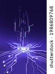 abstract technology chip... | Shutterstock . vector #1986809768