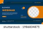 business webinar banner... | Shutterstock .eps vector #1986834875