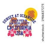 california oceanside pier... | Shutterstock .eps vector #1986837275