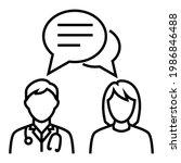 doctor talk consultation...   Shutterstock .eps vector #1986846488
