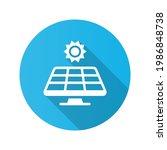sun and solar panel icon....   Shutterstock .eps vector #1986848738