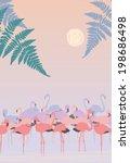 Pink Flamingos At Dawn