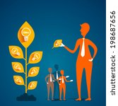 leader pick new idea from plant ... | Shutterstock .eps vector #198687656