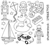 Hand Drawn Cute Doodle Toys Set ...