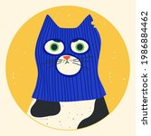 Funny Cat Wearing Balaclava Ski ...