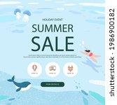 summer shopping event... | Shutterstock .eps vector #1986900182