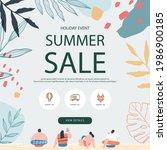 summer shopping event...   Shutterstock .eps vector #1986900185