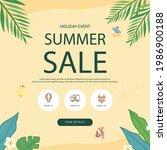 summer shopping event... | Shutterstock .eps vector #1986900188