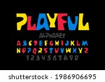 playful style font design ...   Shutterstock .eps vector #1986906695
