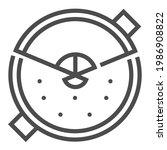 spanish  cuisine  square line... | Shutterstock .eps vector #1986908822