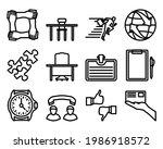 business icon set. editable...